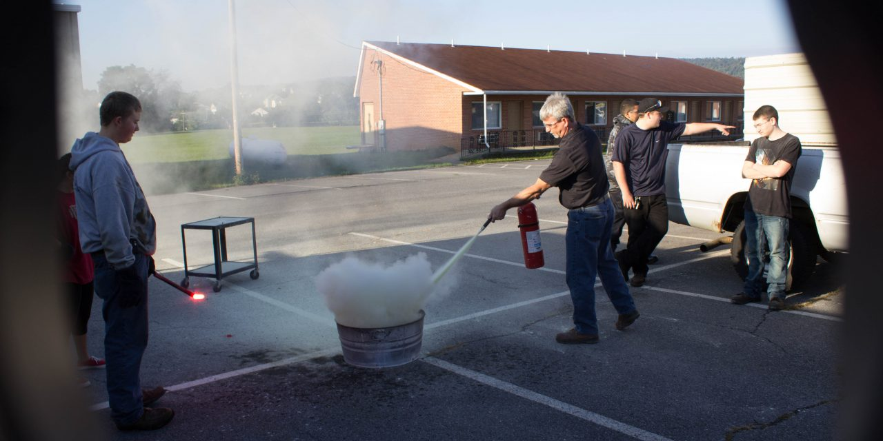 Learning to Use a Fire Extinguisher