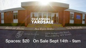 Yard Sale Spaces On Sale