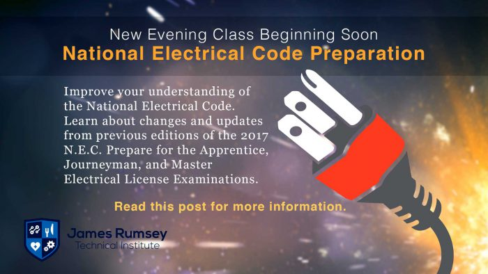 National Electrical Code Preparation Class Begins
