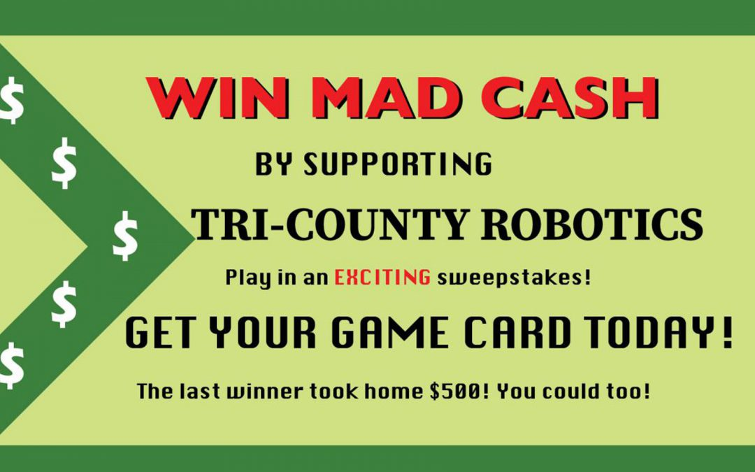 Win Big in the Charity Mania Fundraiser for Tri-County Robotics!