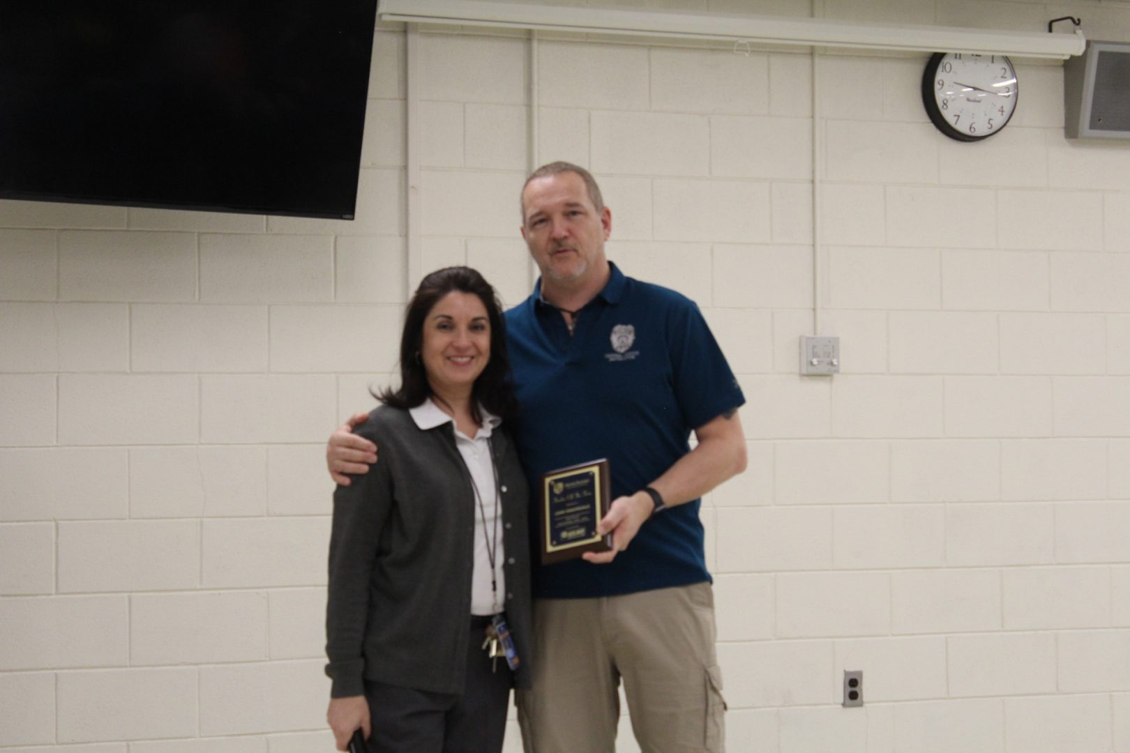 John Vanorsdale, Criminal Justice instructor receives Teacher of the Term award.