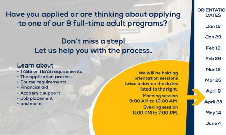 Orientation dates for adult programs