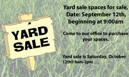 2019 JRTI Fall Yard Sale