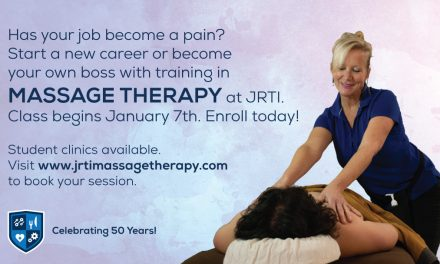 Massage Therapy classes begin Jan 7th. Enroll today!