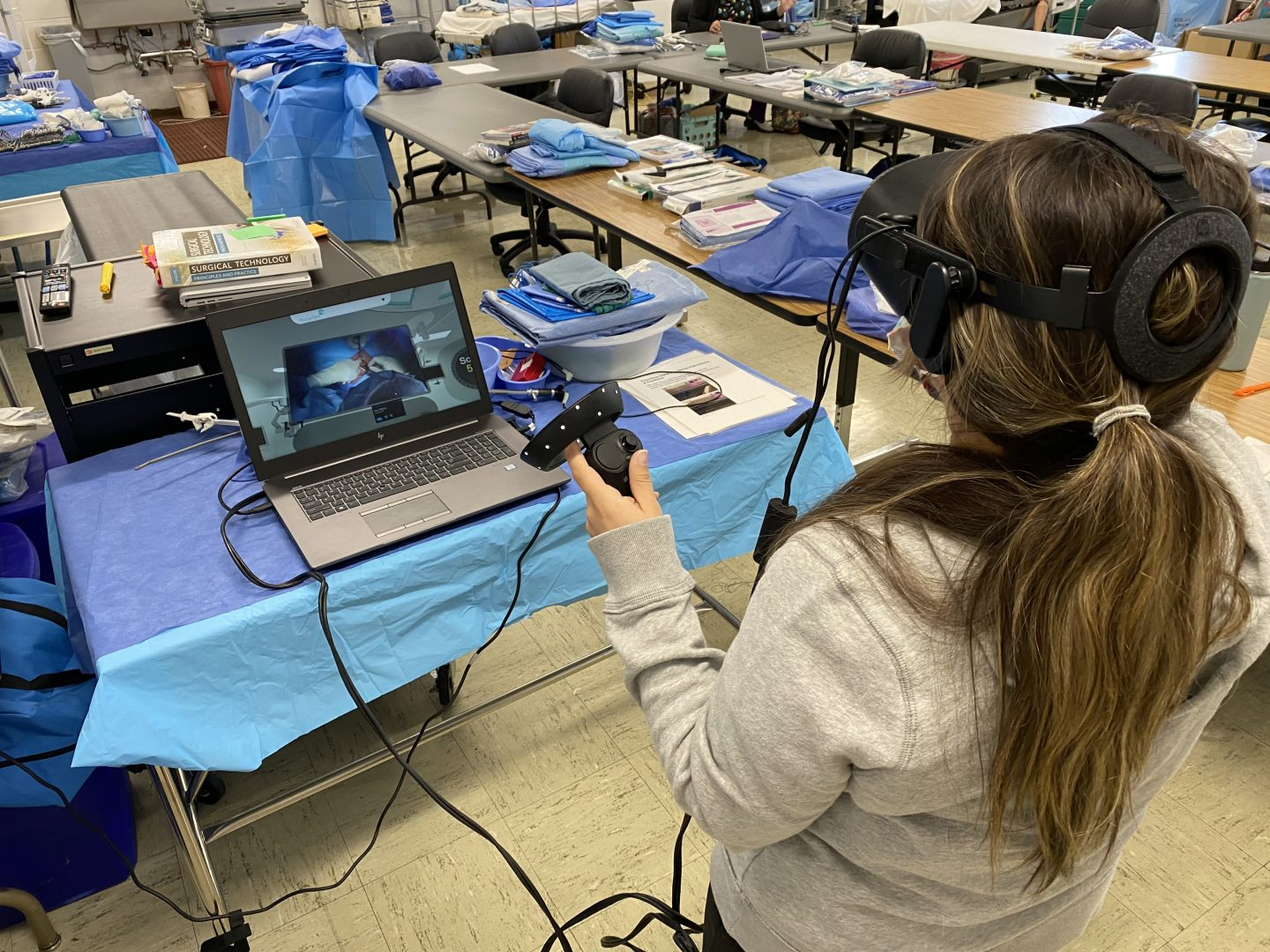 Working in a virtual operating room.